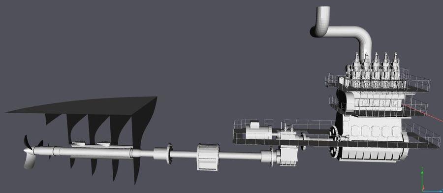 Motores diesel marítimos royalty-free 3d model - Preview no. 1