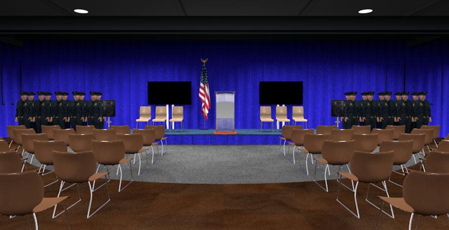회의실 royalty-free 3d model - Preview no. 2