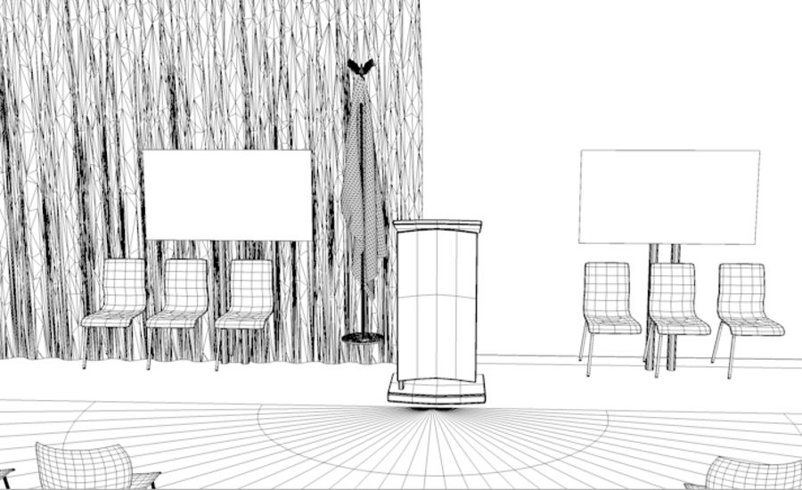 회의실 royalty-free 3d model - Preview no. 4