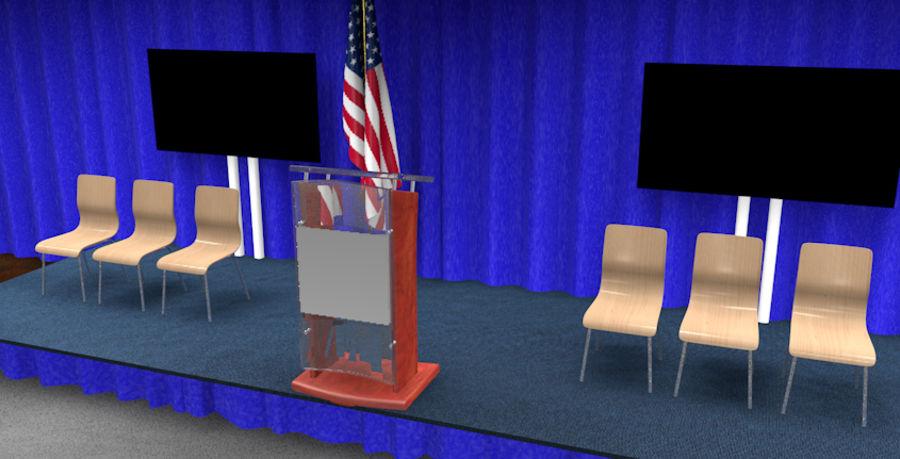 회의실 royalty-free 3d model - Preview no. 1