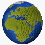 Voxel Earth 3d model