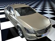 Benz cls Gold modelo 3d
