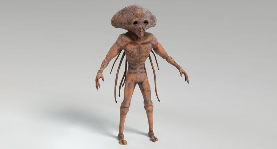 Sci-fi Alien royalty-free 3d model - Preview no. 3