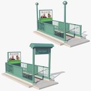 뉴욕 지하철 입구 3d model