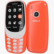 Nokia 3310 2017 rosso caldo 3d model