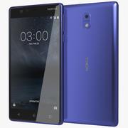 Nokia 3 härdat blått 3d model