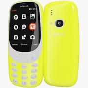 Nokia 3310 2017 Yellow 3d model
