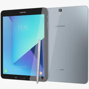 S Pen Silver ile Samsung Galaxy Tab S3 3d model