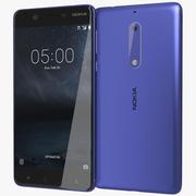 Nokia 5 härdat blått 3d model