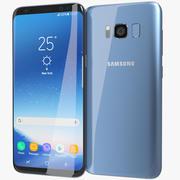 Samsung Galaxy S8 Coral Blue 3d model