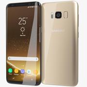 Samsung Galaxy S8 Maple Gold 3d model