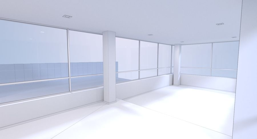 Resort building six royalty-free 3d model - Preview no. 20