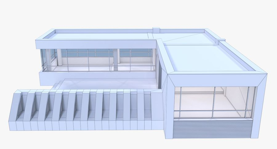 Resort building six royalty-free 3d model - Preview no. 13
