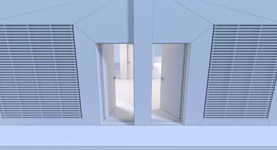 Resort building six royalty-free 3d model - Preview no. 17