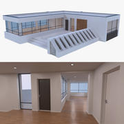 Resort building six 3d model
