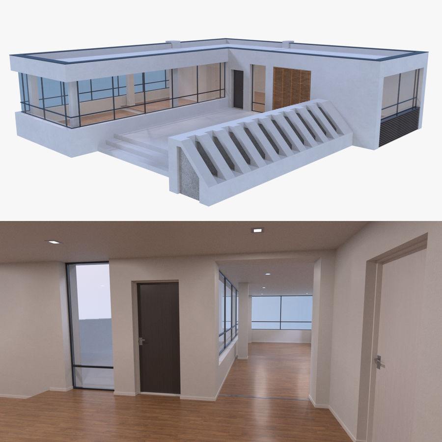 Resort building six royalty-free 3d model - Preview no. 1