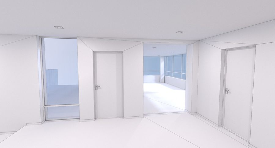 Resort building six royalty-free 3d model - Preview no. 22