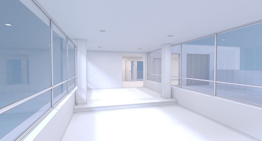 Resort building six royalty-free 3d model - Preview no. 21