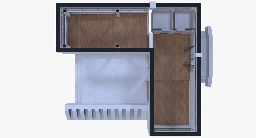 Resort building six royalty-free 3d model - Preview no. 12