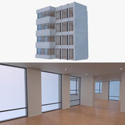 Resort building five 3d model