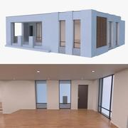 Resort building four 3d model