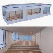 Resort building three 3d model