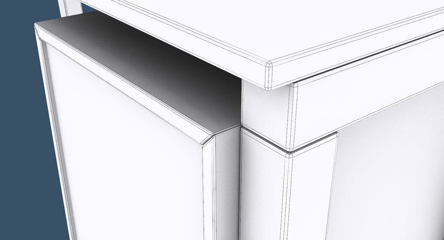 Desk with Office Cabinet royalty-free 3d model - Preview no. 14