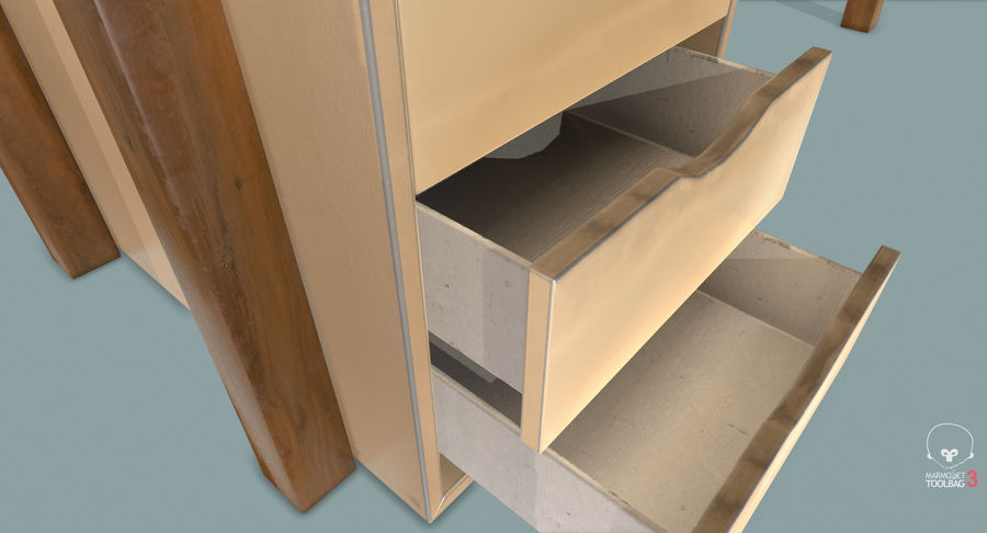 Desk with Office Cabinet royalty-free 3d model - Preview no. 19