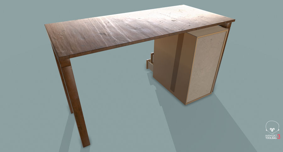 Desk with Office Cabinet royalty-free 3d model - Preview no. 18