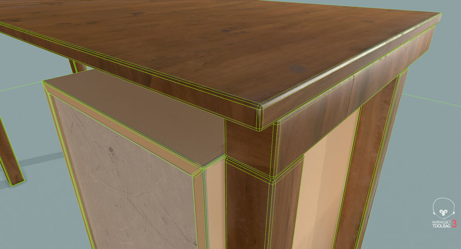 Desk with Office Cabinet royalty-free 3d model - Preview no. 24