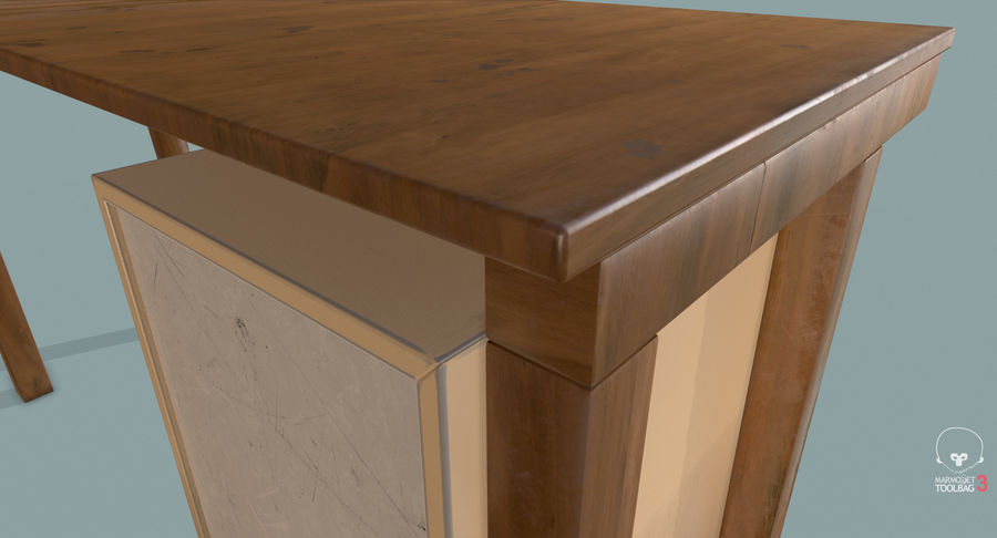 Desk with Office Cabinet royalty-free 3d model - Preview no. 20