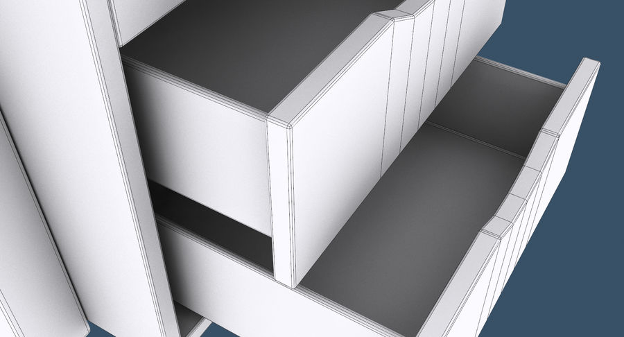 Desk with Office Cabinet royalty-free 3d model - Preview no. 15