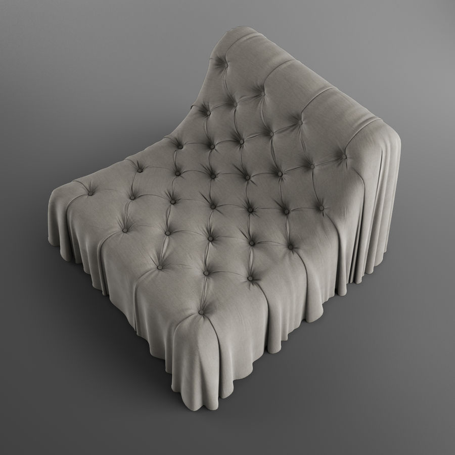 Boheemse fauteuil Busnelli royalty-free 3d model - Preview no. 6