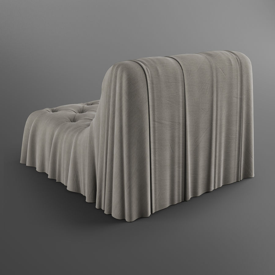 Boheemse fauteuil Busnelli royalty-free 3d model - Preview no. 5