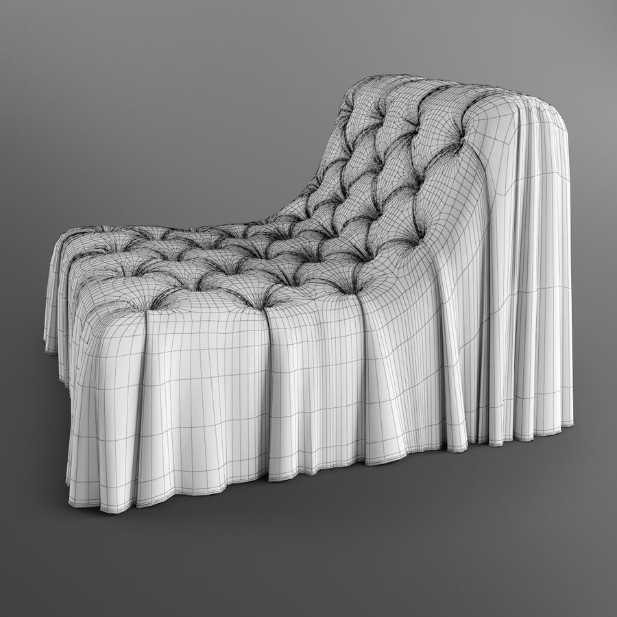 Boheemse fauteuil Busnelli royalty-free 3d model - Preview no. 10