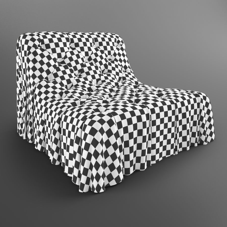 Boheemse fauteuil Busnelli royalty-free 3d model - Preview no. 14