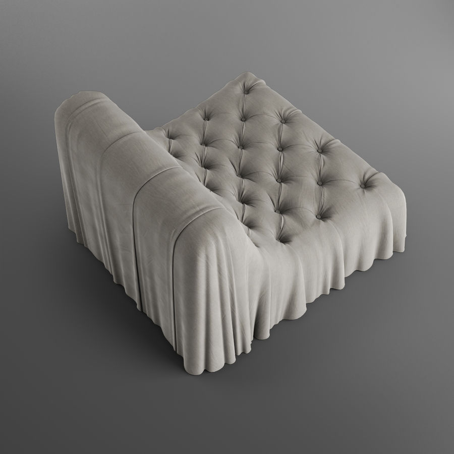Boheemse fauteuil Busnelli royalty-free 3d model - Preview no. 7