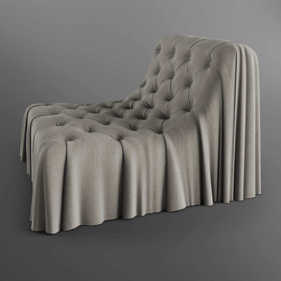 Boheemse fauteuil Busnelli royalty-free 3d model - Preview no. 4