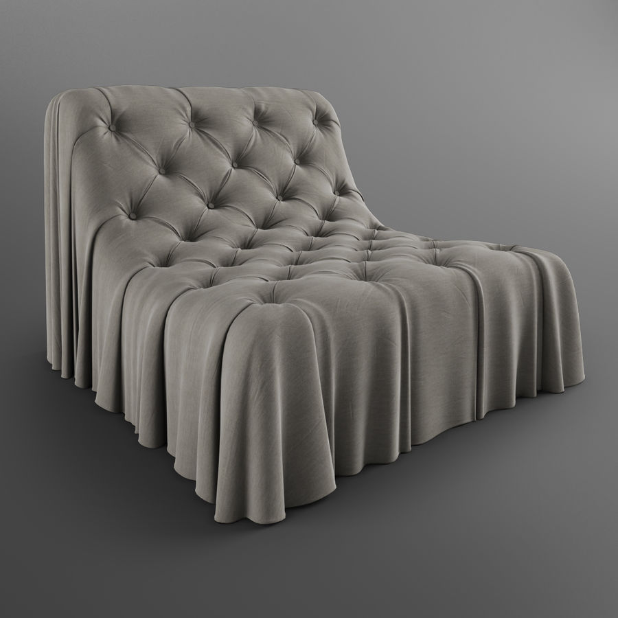 Boheemse fauteuil Busnelli royalty-free 3d model - Preview no. 2