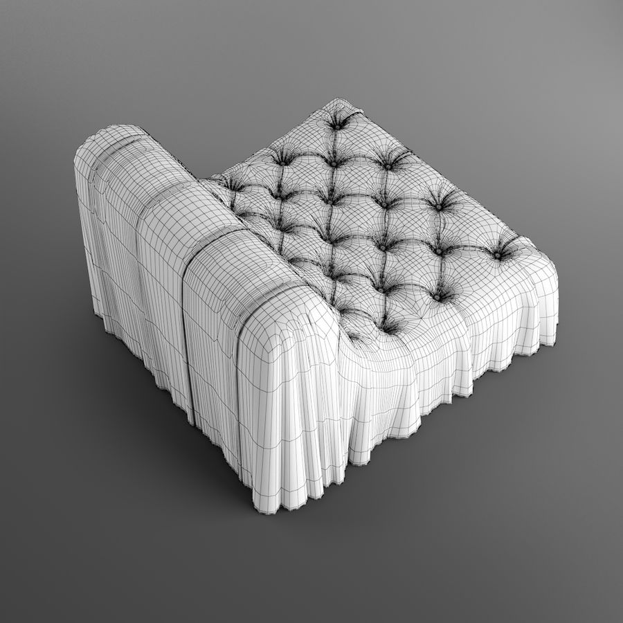 Boheemse fauteuil Busnelli royalty-free 3d model - Preview no. 13