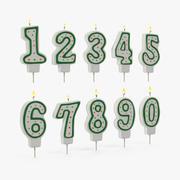 Antal födelsedagsljus med Flame 3D-modeller 3d model