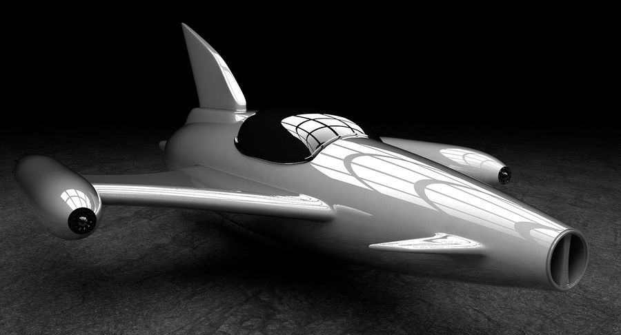 Aviões a jato royalty-free 3d model - Preview no. 4