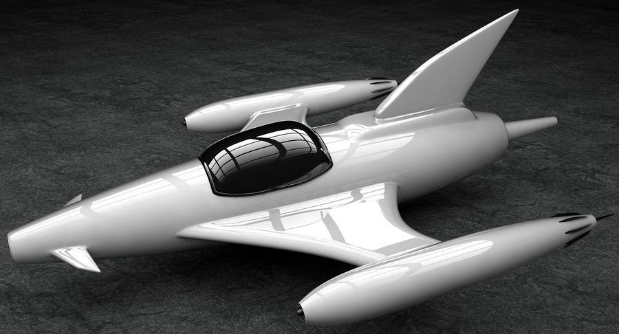 Aviões a jato royalty-free 3d model - Preview no. 7