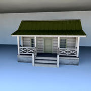 Drewniana kabina 3d model