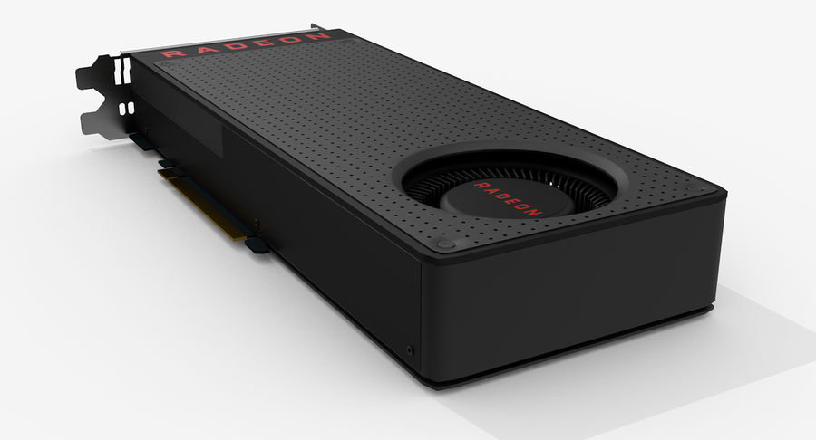 Amd Radeon RX 490 royalty-free 3d model - Preview no. 4