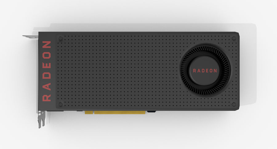 Amd Radeon RX 490 royalty-free 3d model - Preview no. 7