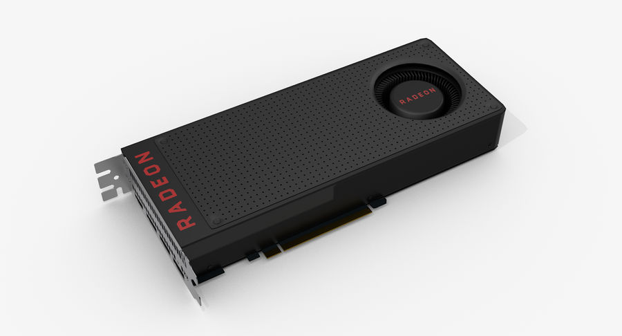 Amd Radeon RX 490 royalty-free 3d model - Preview no. 2