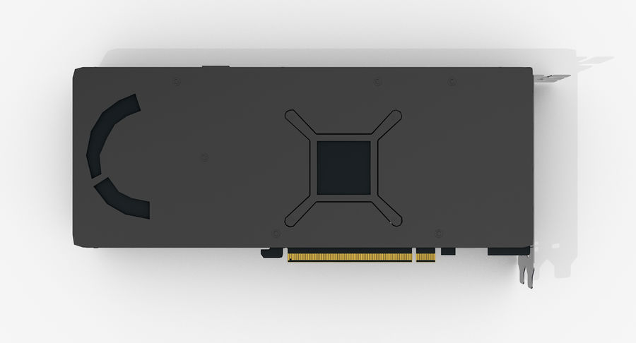 Amd Radeon RX 490 royalty-free 3d model - Preview no. 13
