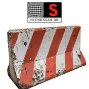 Balayage de la barrière en béton 8K (2) 3d model