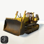 Bulldozer mid poly 3d model